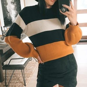 VICIDOLLS Flavour Colorblock Knit Sweater